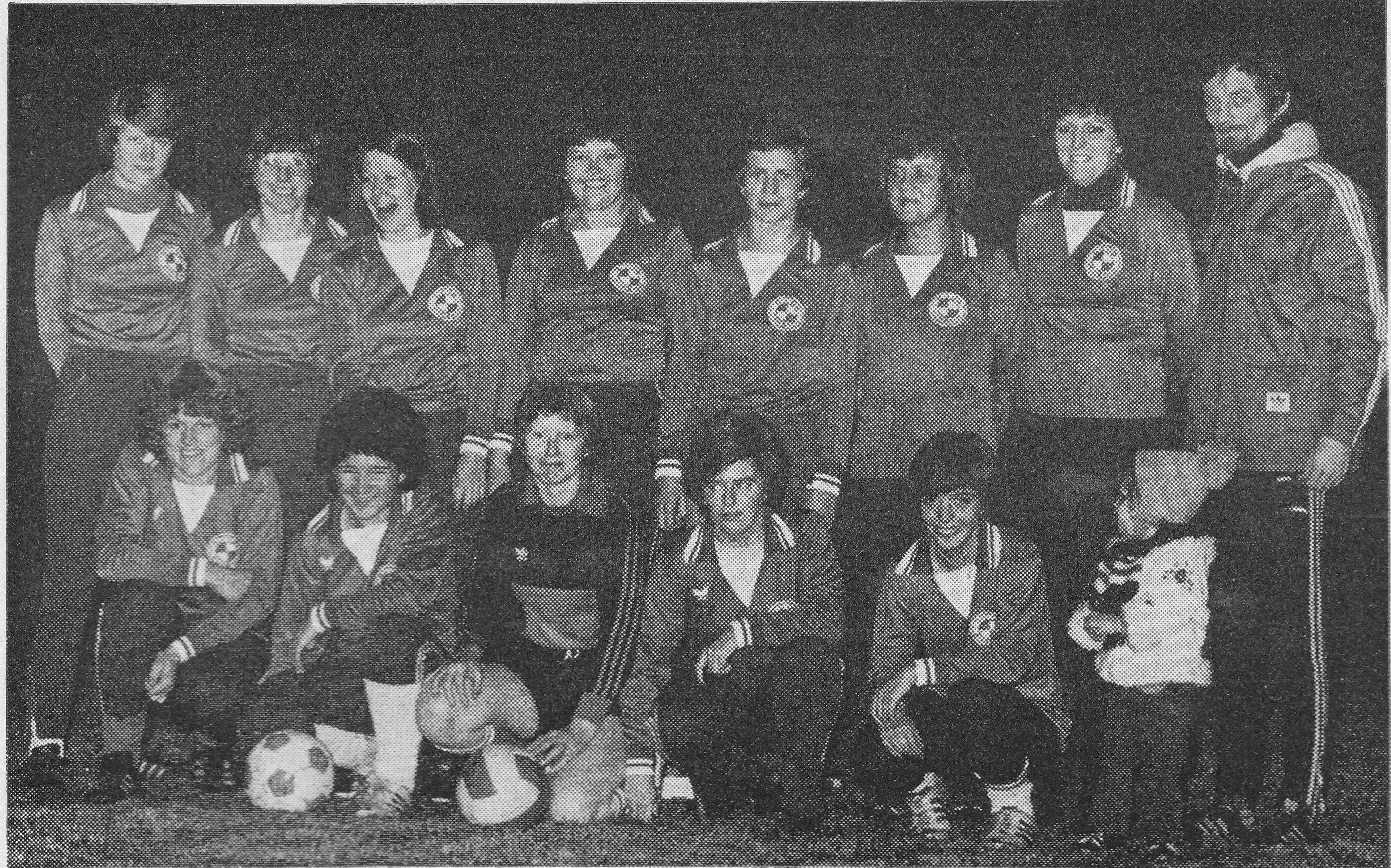 Aufsteiegr in die Bezirksklasse: Die Damenfussballer des SV 09 Korbach (1978)