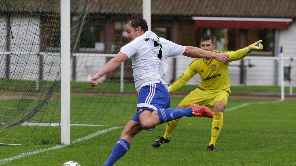 Erstes Tor nach der Rückkehr: Christoph Osterhold erzielte in Woöfershausen das 1:0 für Korbach. © malafo