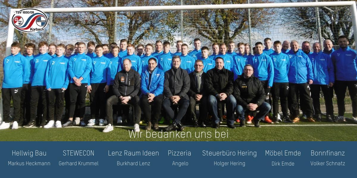 Sponsore, Spieler, Trainer und Betreuer der A- und B-Junioren des TSV Korbach